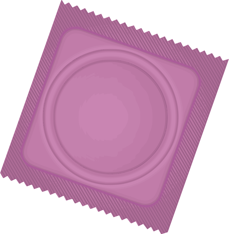 Pink Condom Package