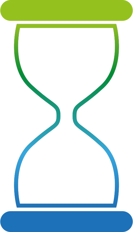 Colourful hourglass