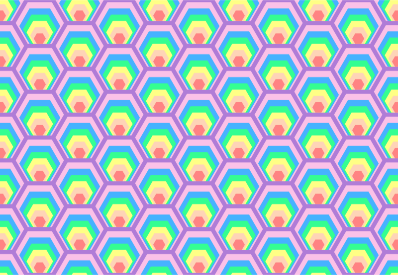 Colourful hexagon pattern (colour 2)