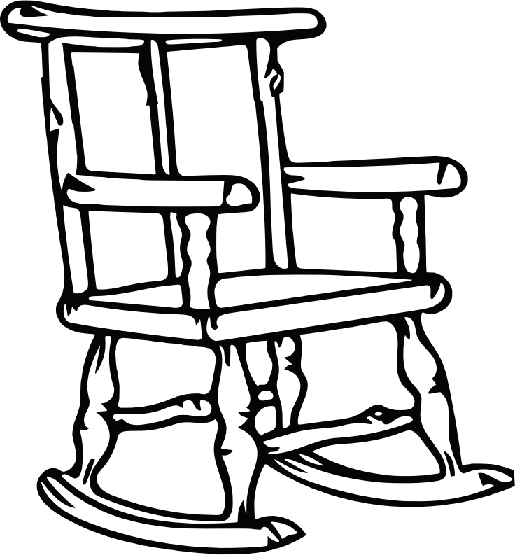 Rocking chair 3 (outline)