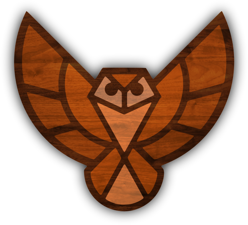 Wood texture owl (no background)