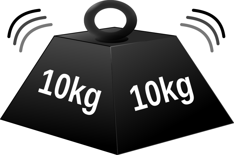 10 kg weight white character+heavy effect