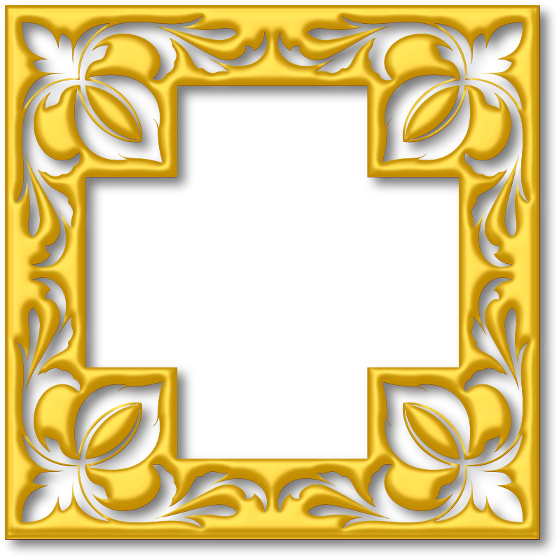 Gold cross frame