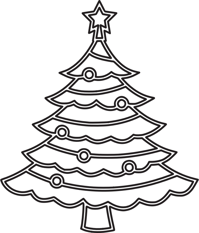 Christmas tree 6 (outline)