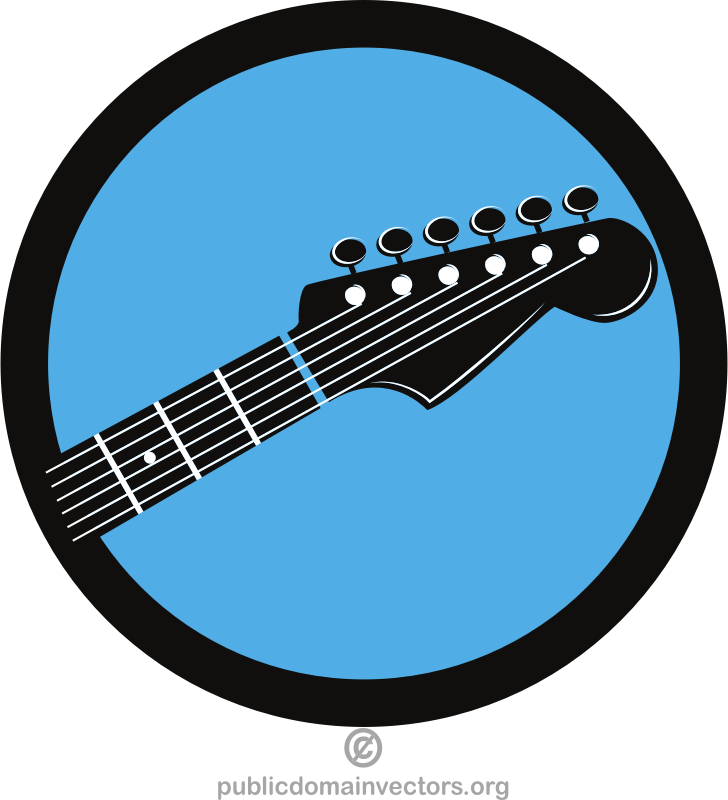 Music shop vector logotype