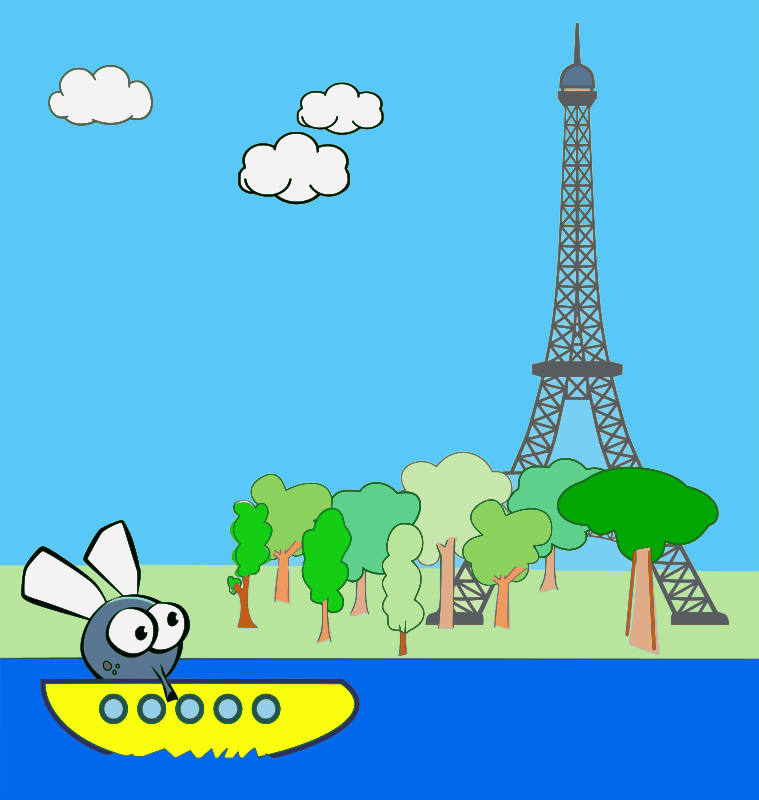 Bateau mouche Flyboat in Paris