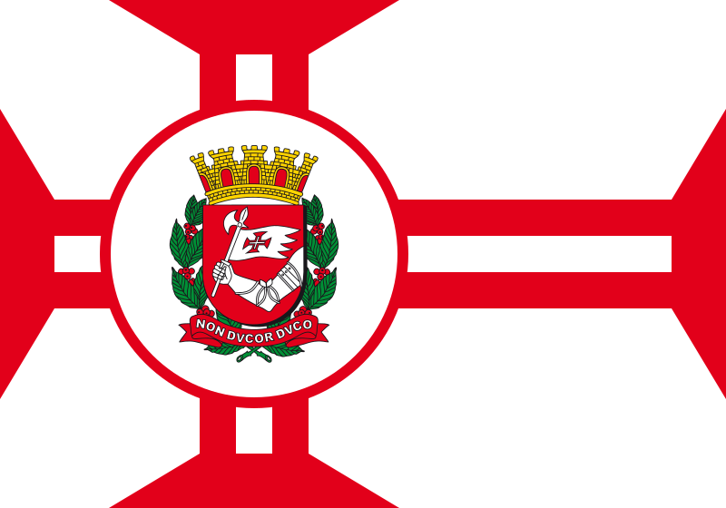 Flag of city Sao Paulo