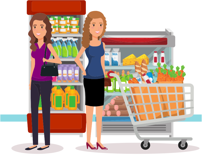 Two Women At The Supermarket