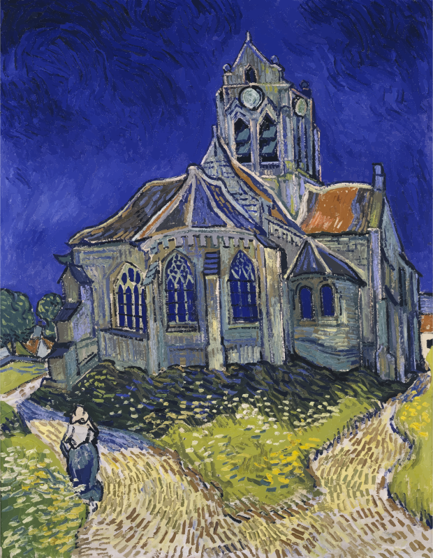 Vincent Van Gogh The Church In Auvers Sur Oise View From The Chevet