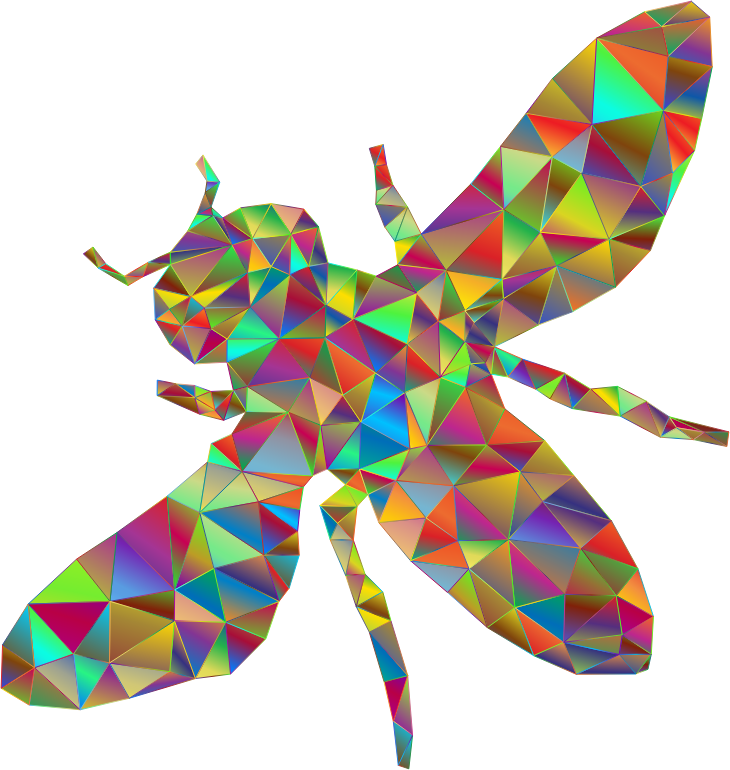 Low Poly Prismatic Bee