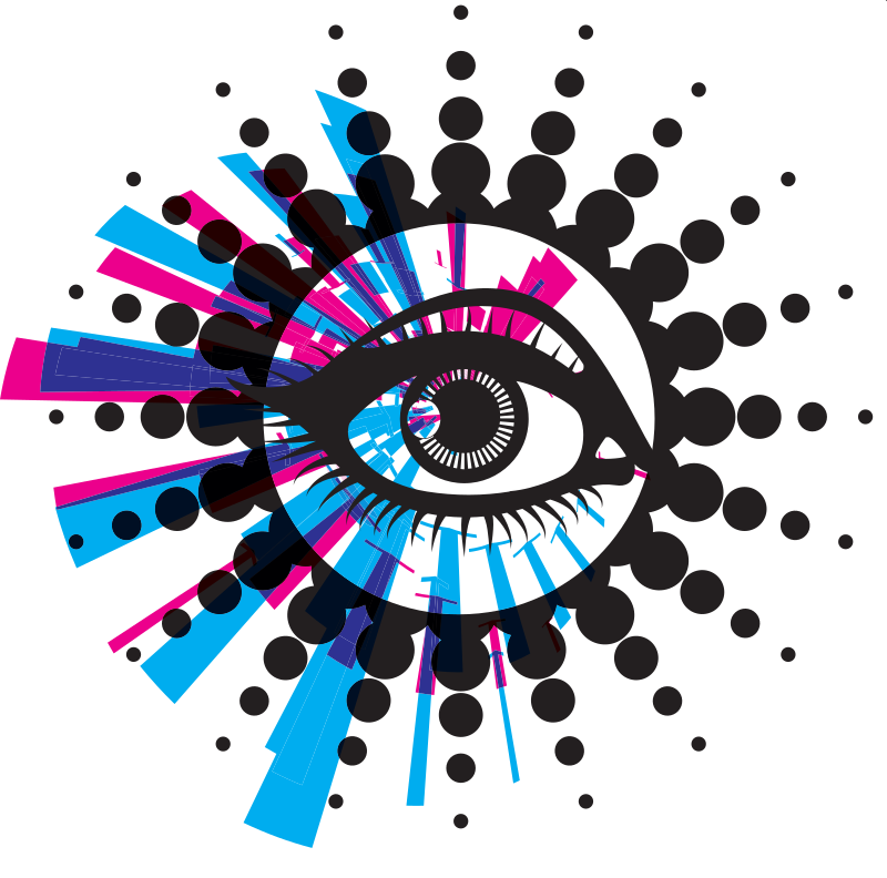 Eye abstract graphics background
