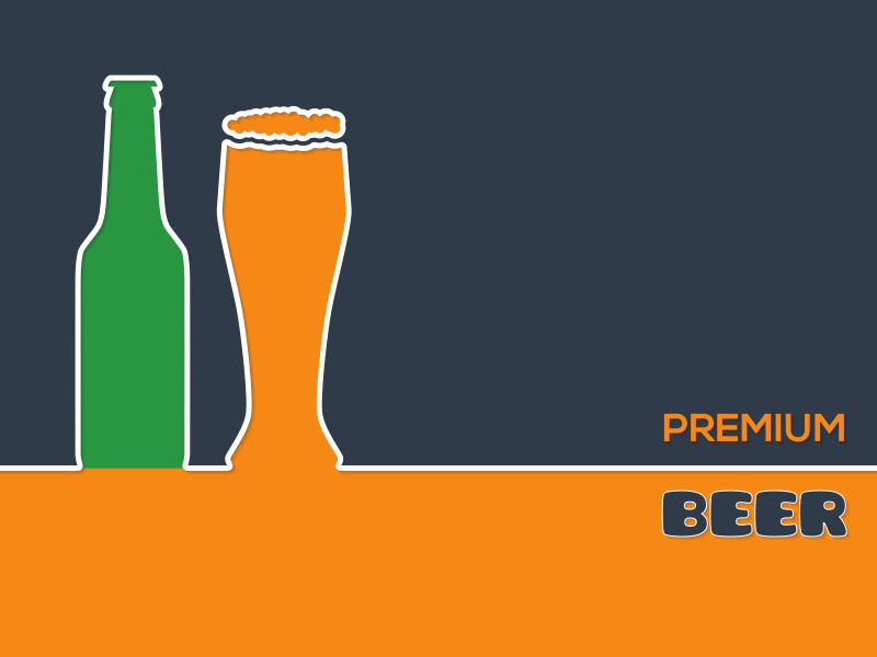 Premium beer vector background