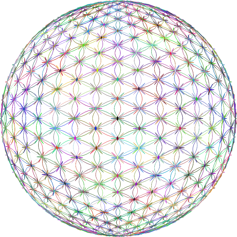 Abstract Wireframe Sphere No BG