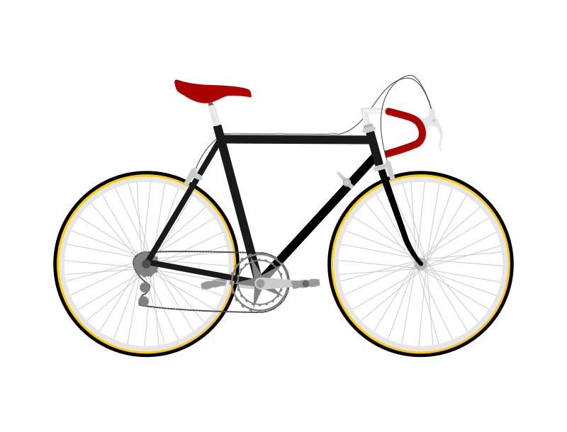 Flat design Race Bicycle