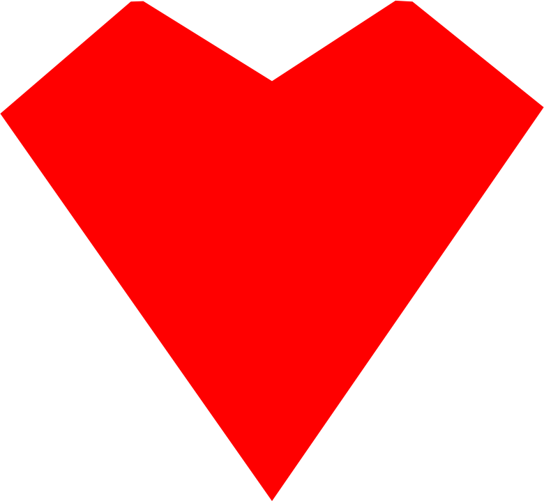 Red Heart Straight Lines