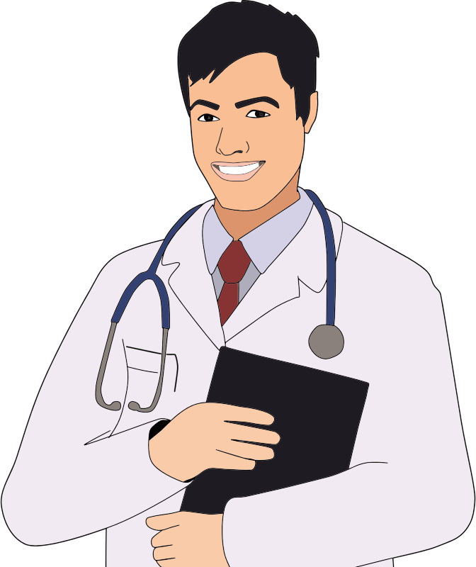 Young Male Doctor Facing Right