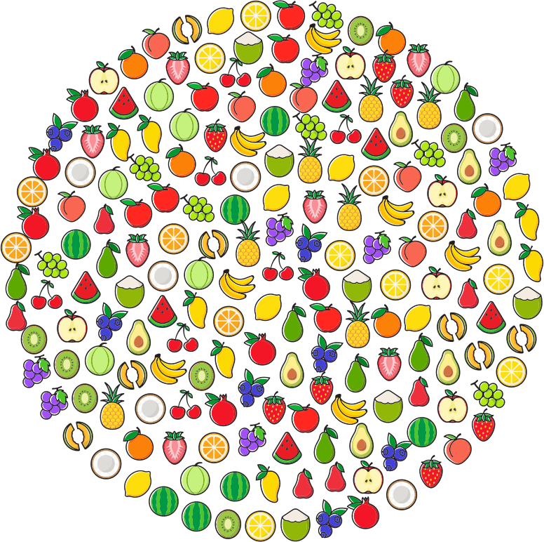 Fruit Icons Circle