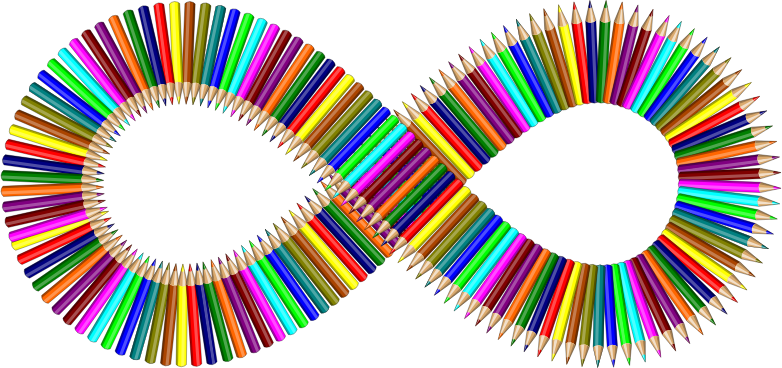 Colored Pencils Infinity