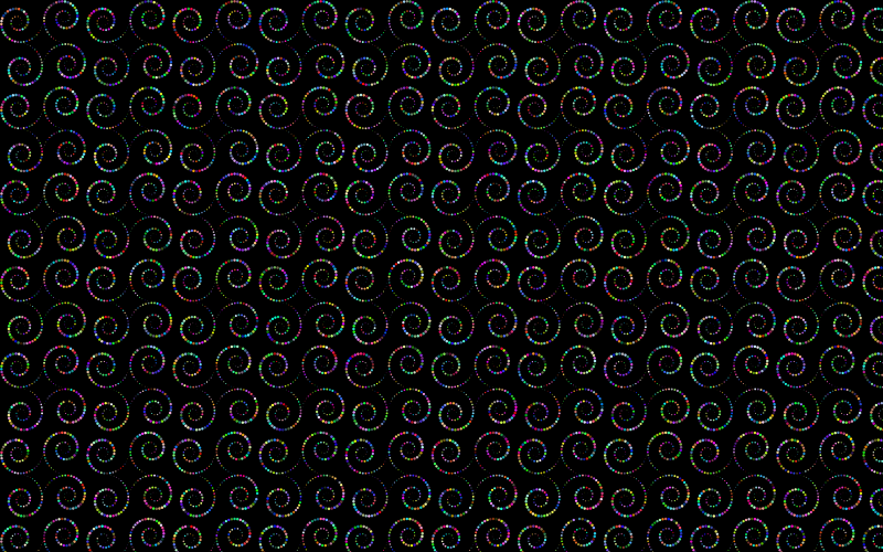 Prismatic Circles Swirls Background