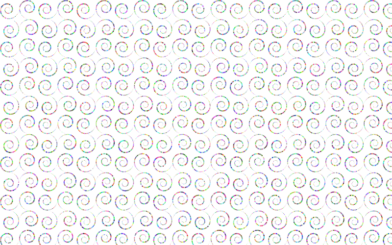 Prismatic Circles Swirls Background No BG
