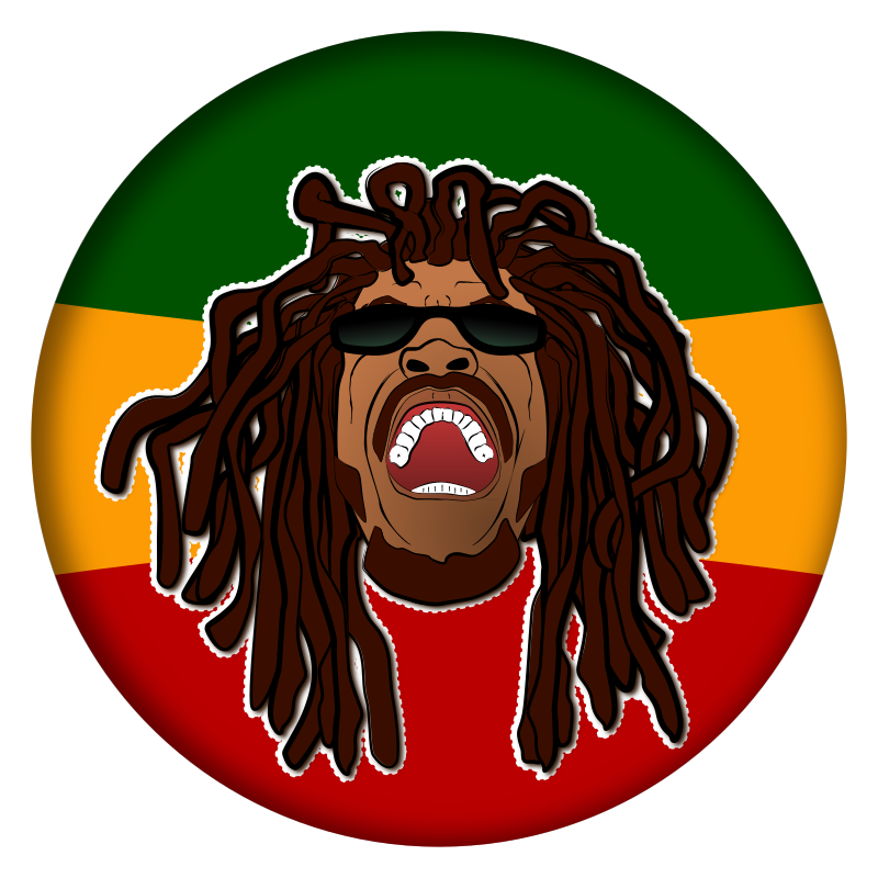 Rastafarian head