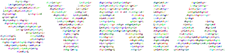 Syria Fractal Typography Prismatic