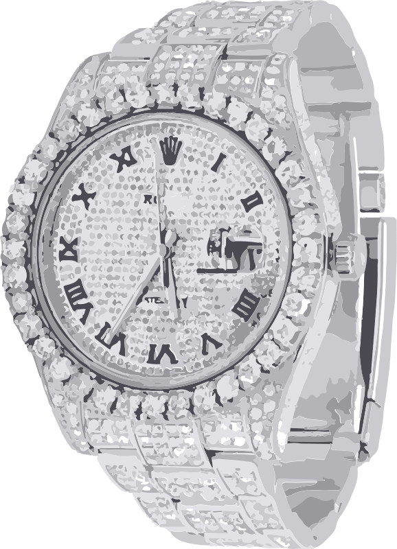 full diamonds swiss watch - horlogerie