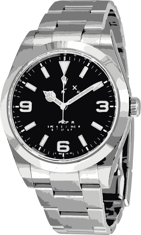 swiss watch in white gold and black - horlogerie