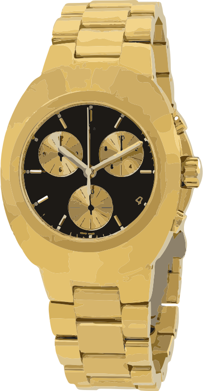 swiss watch in full gold and black - horlogerie