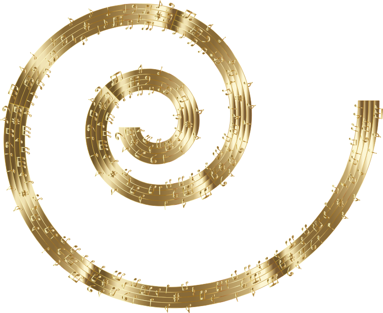 Musical Spiral Gold No BG