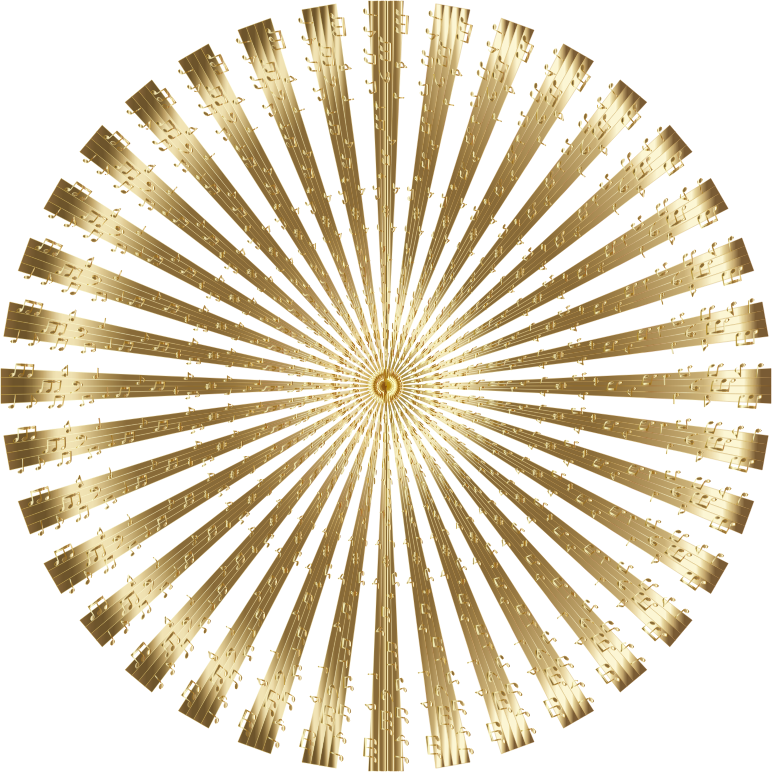 Musical Mandala Gold No BG