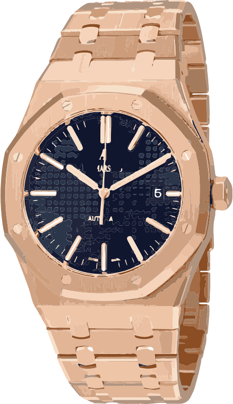 swiss watch in rose gold - horlogerie