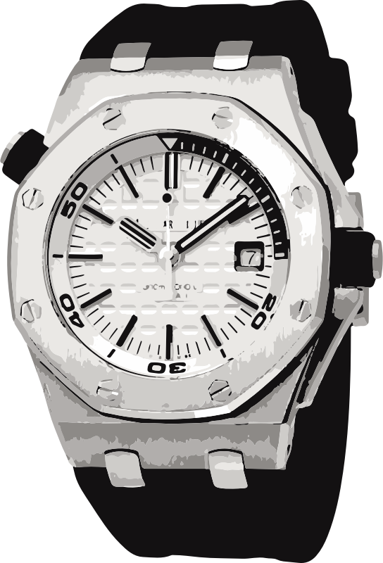 swiss watch in black and white - horlogerie