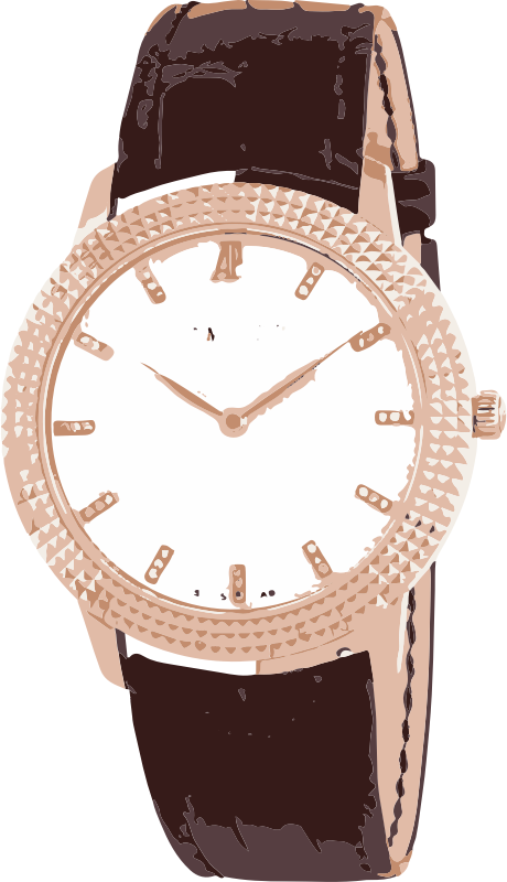 vintage classic rose gold shiny swiss watch - horlogerie