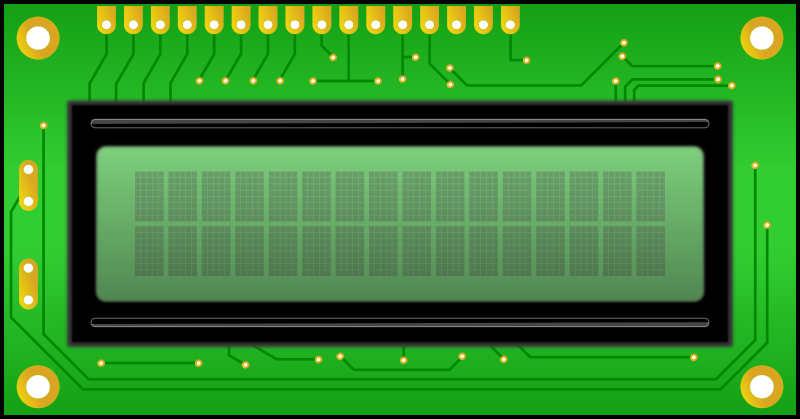 LCD, Connector on top