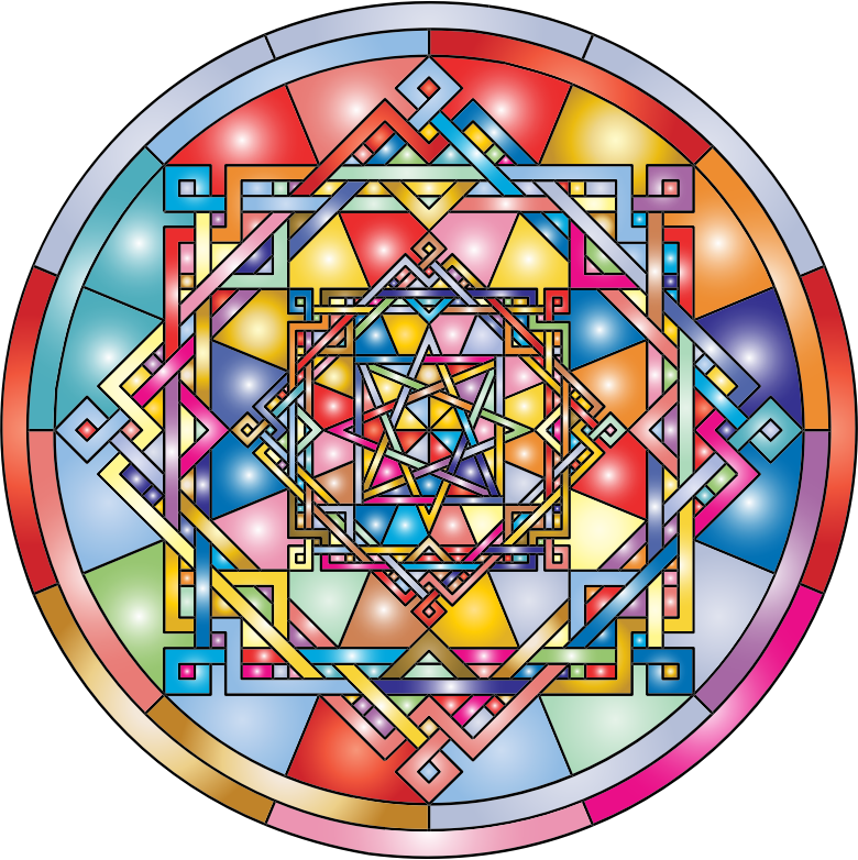 Interleaved Geometric Mandala Prismatic