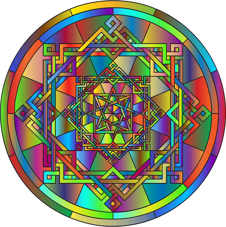 Interleaved Geometric Mandala Polyprismatic