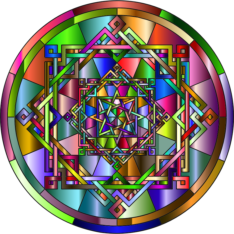Interleaved Geometric Mandala Chromatic