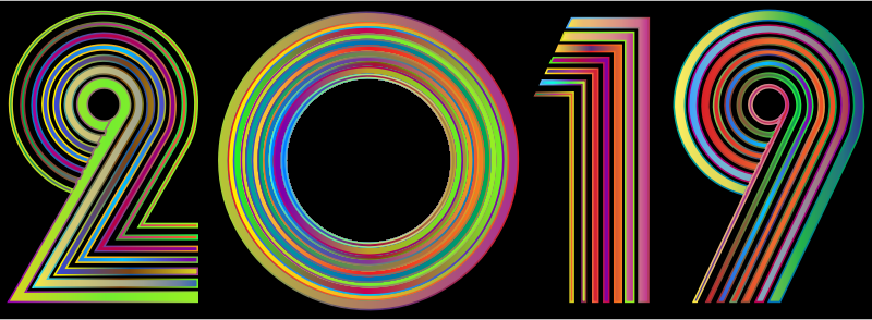 2019 Typography Polyprismatic