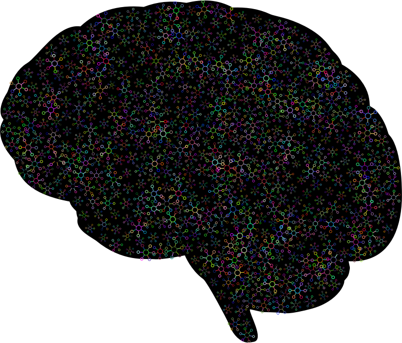 Abstract Molecular Brain Prismatic With BG