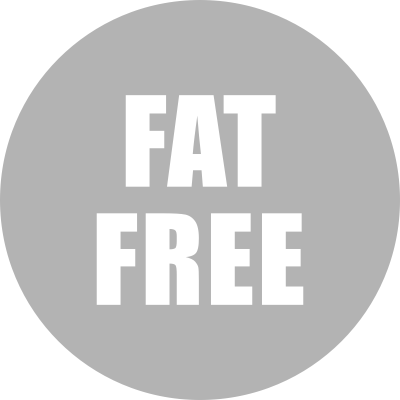 Fat Free Icon Gray