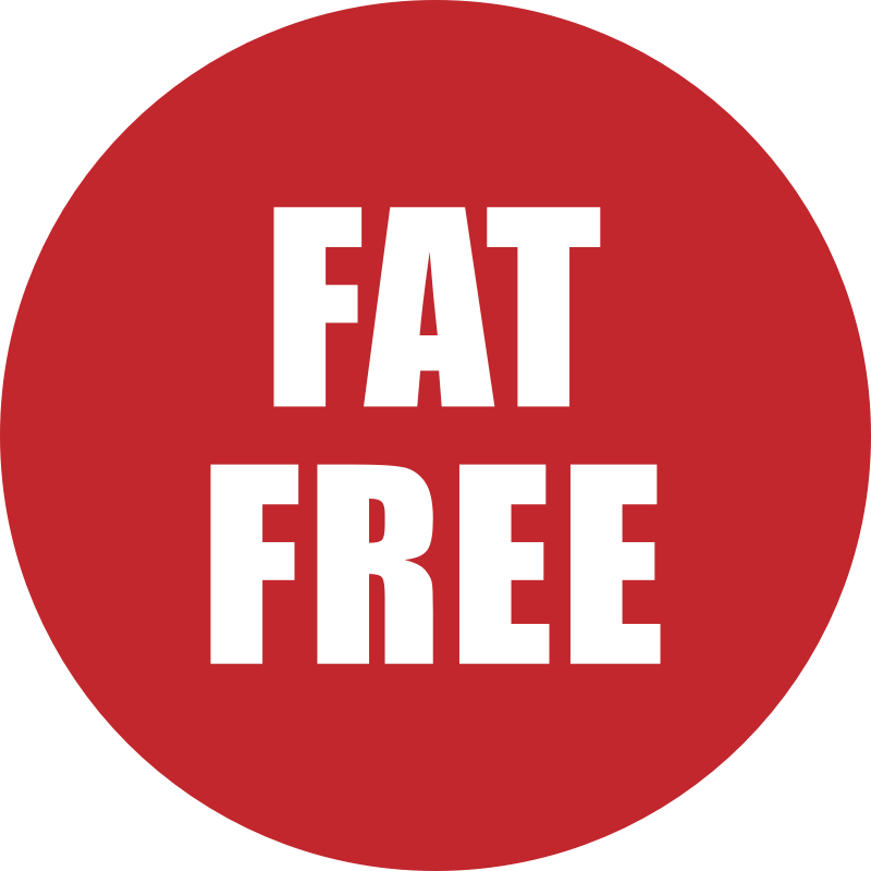 Fat Free Icon Red