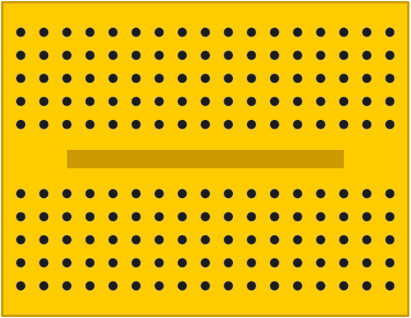 yellow breadboard