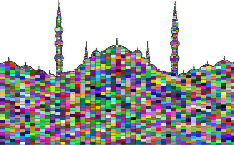 Mosque With Minarets Mosaic