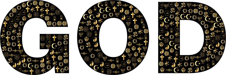 God Religious Symbols Design Gold