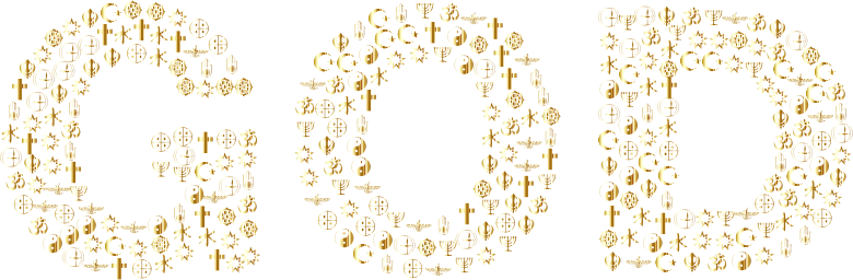 God Religious Symbols Design Gold No BG