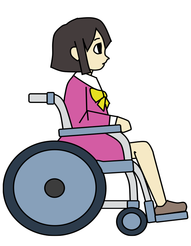 Wheelchair Girl - Colour