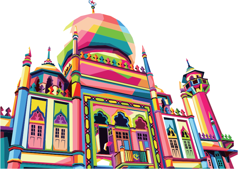 Geometric Mosque Pop Art By RizkyDwi123