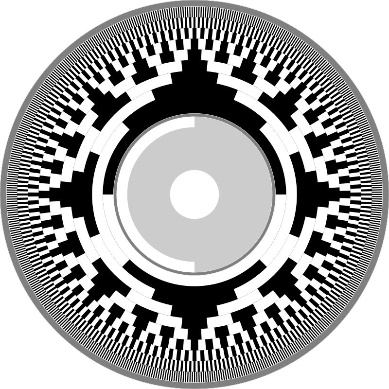 Gray-Code as Compact Disk Label