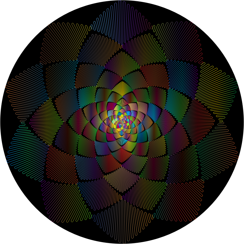 Geometric Rosette Design Polyprismatic